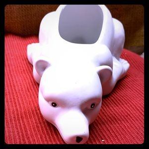 Vintage Polar Bear Ceramic Planter